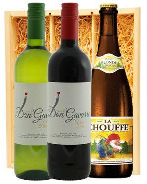Finca Don Gavarre Blanco & Tinto + La Chouffe Belgisch Blond