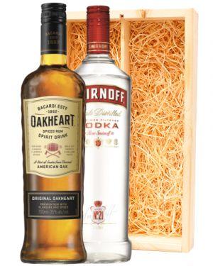 Bacardi Oakheart & Smirnoff Vodka Red