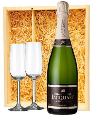 Jacquart Champagne Demi-Sec + 2 flutes