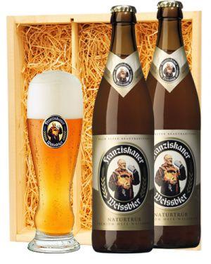 Franziskaner Weissbier + Franziskaner glas