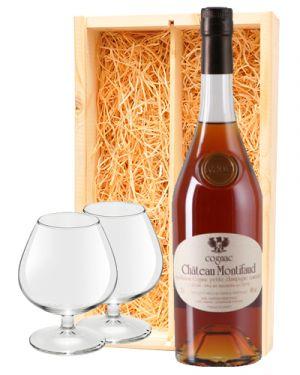 Chateau Montifaud Cognac VSOP + 2 cognac glazen