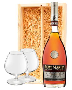 Remy Martin Cognac VSOP + 2 cognac glazen