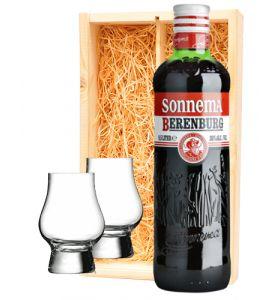 Sonnema Berenburg + 2 borrelglaasjes