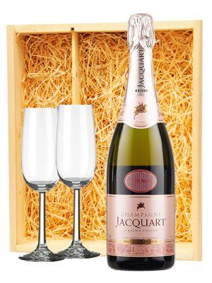 Jacquart Champagne Rosé + 2 flutes