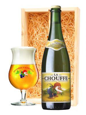 La Chouffe Stevig Blond + La Chouffe glas