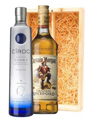 Ciroc Vodka & Captain Morgan Spiced Rum