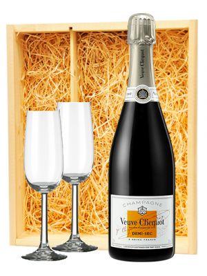 Veuve Clicquot Champagne Demi-Sec + 2 flutes