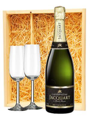Jacquart Champagne Brut + 2 flutes