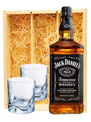 Jack Daniel's Black Label & 2 whisky glazen