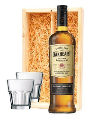 Bacardi Oakheart + 2 rum glazen