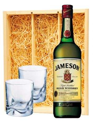 Jameson Irish Whiskey & 2 luxe whisky glazen