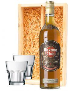 Havana Club Anejo Especial + 2 luxe rum glazen