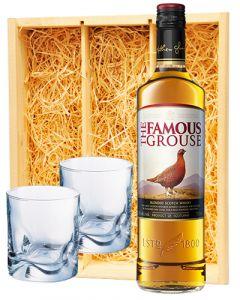 Famous Grouse Scotch whisky + 2 whisky glazen