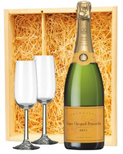 Veuve Clicquot Champagne Brut + 2 flutes