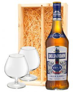 Dujardin Vieux Blauw + 2 luxe vieux glazen