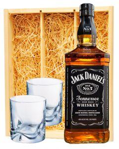 Jack Daniel's Black Label & 2 whisky glazen