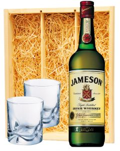 Jameson Irish Whiskey & 2 luxe whisky glazen